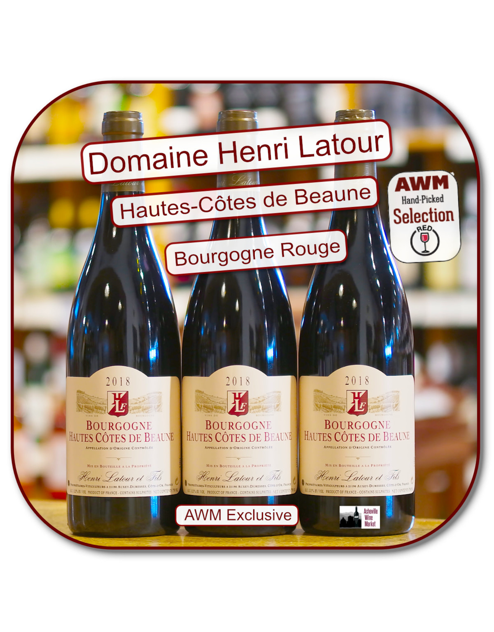 Pinot Noir Henri Latour Hautes Cotes de  Beaune Rouge 18