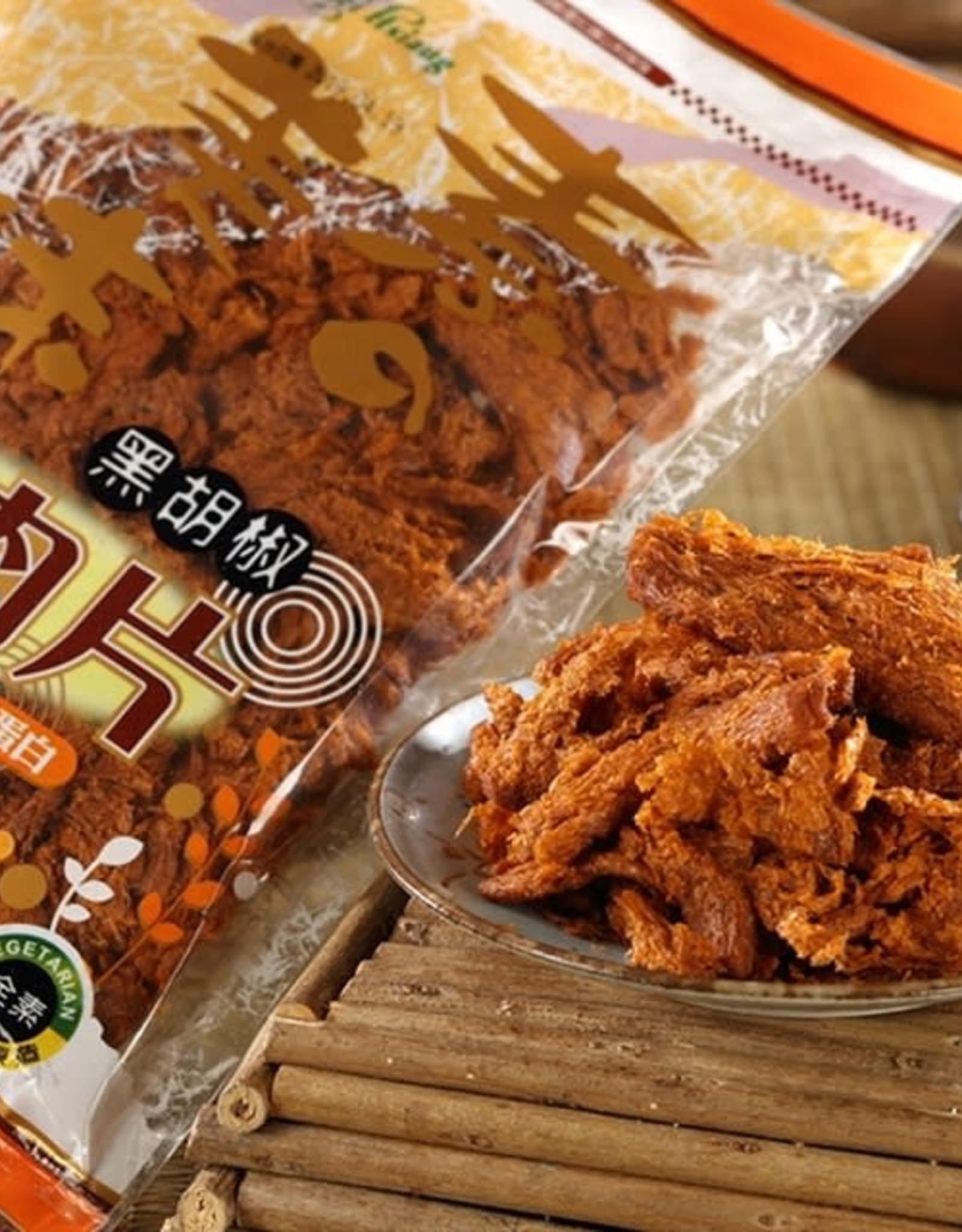 Fu Kuei Hsiang * 富貴香 (FKH) Vegan Black Pepper Soybean Slice(Spicy)*(富貴香) 黑胡椒肉片(辣)