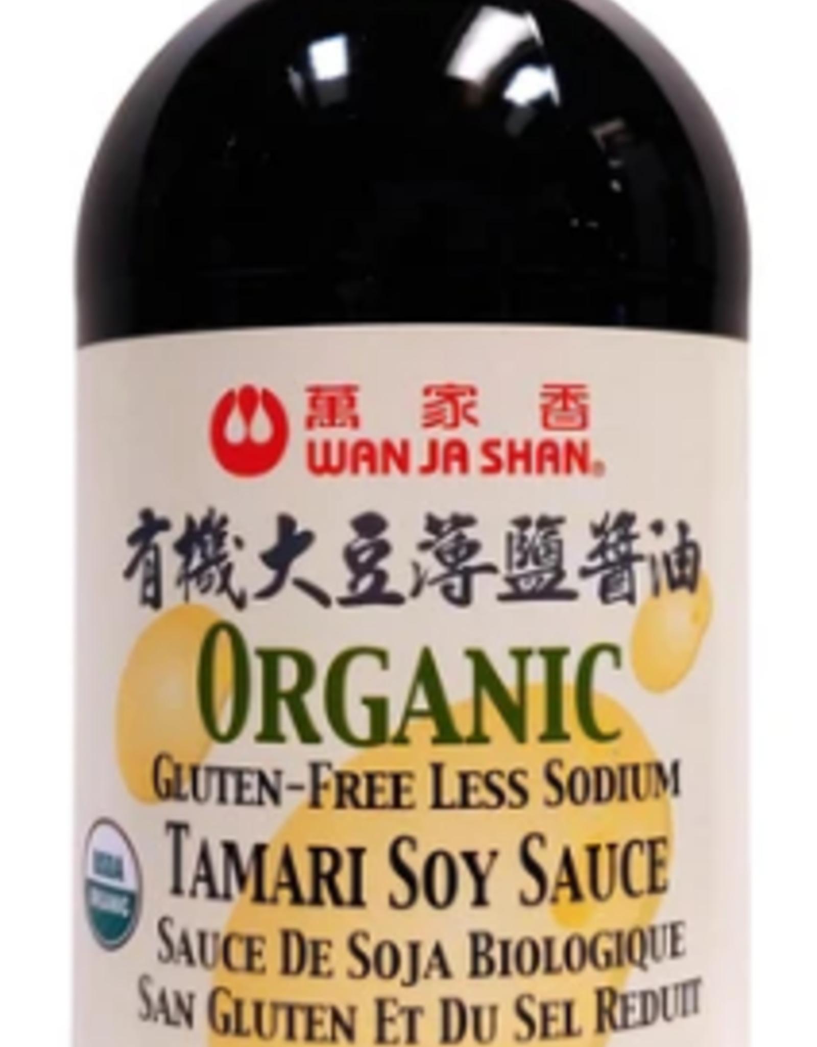 (LW) Vegan Organic Gluten-Free Less Sodium Tamari Soy Sauce*(萬家香) 有機大豆薄鹽醬油