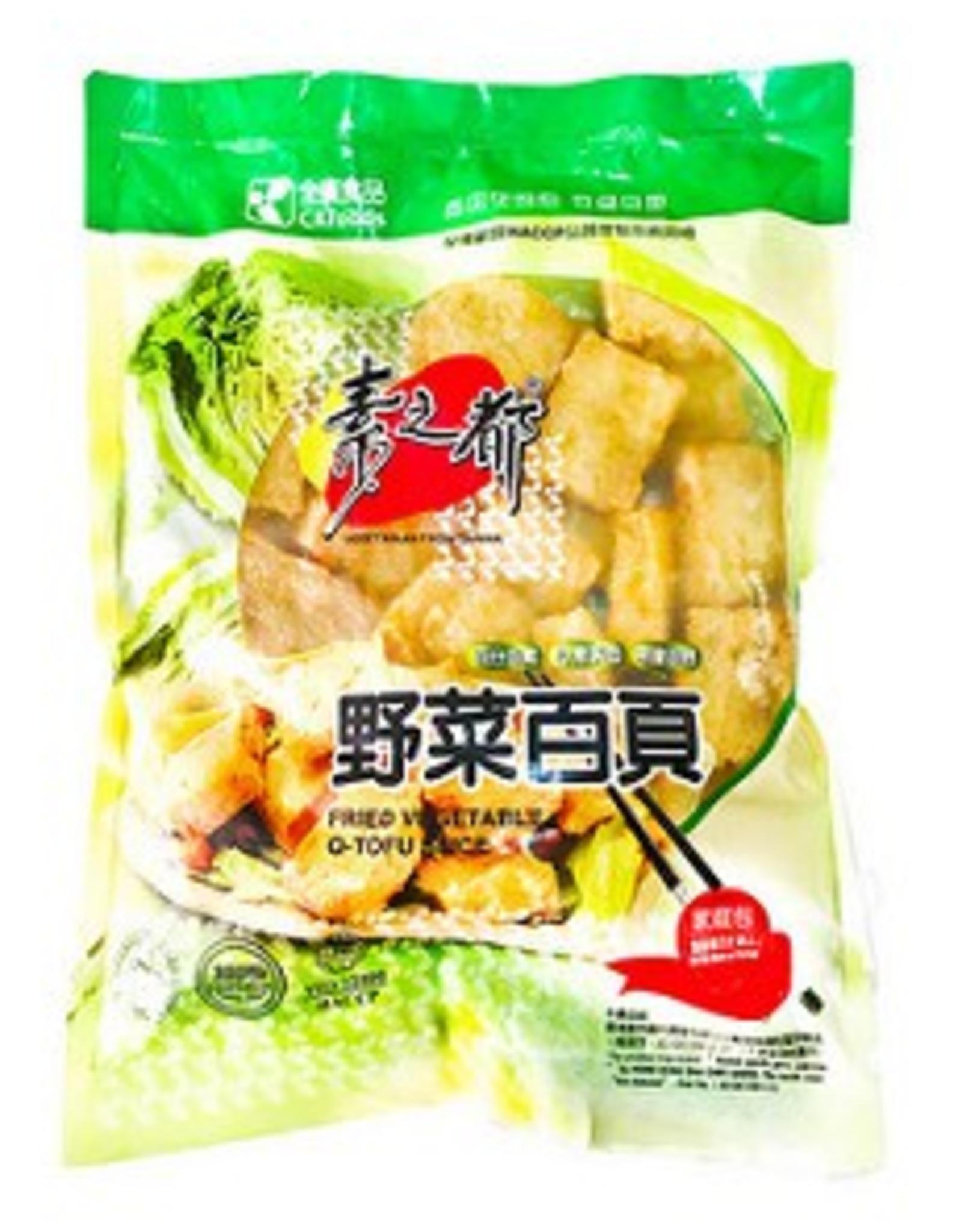 Chyuan Kuang * 全廣 (CK) Vegan Fried Vegetables Q-Tofu Slice (L)*(素之都) 野菜百頁豆腐 (L)