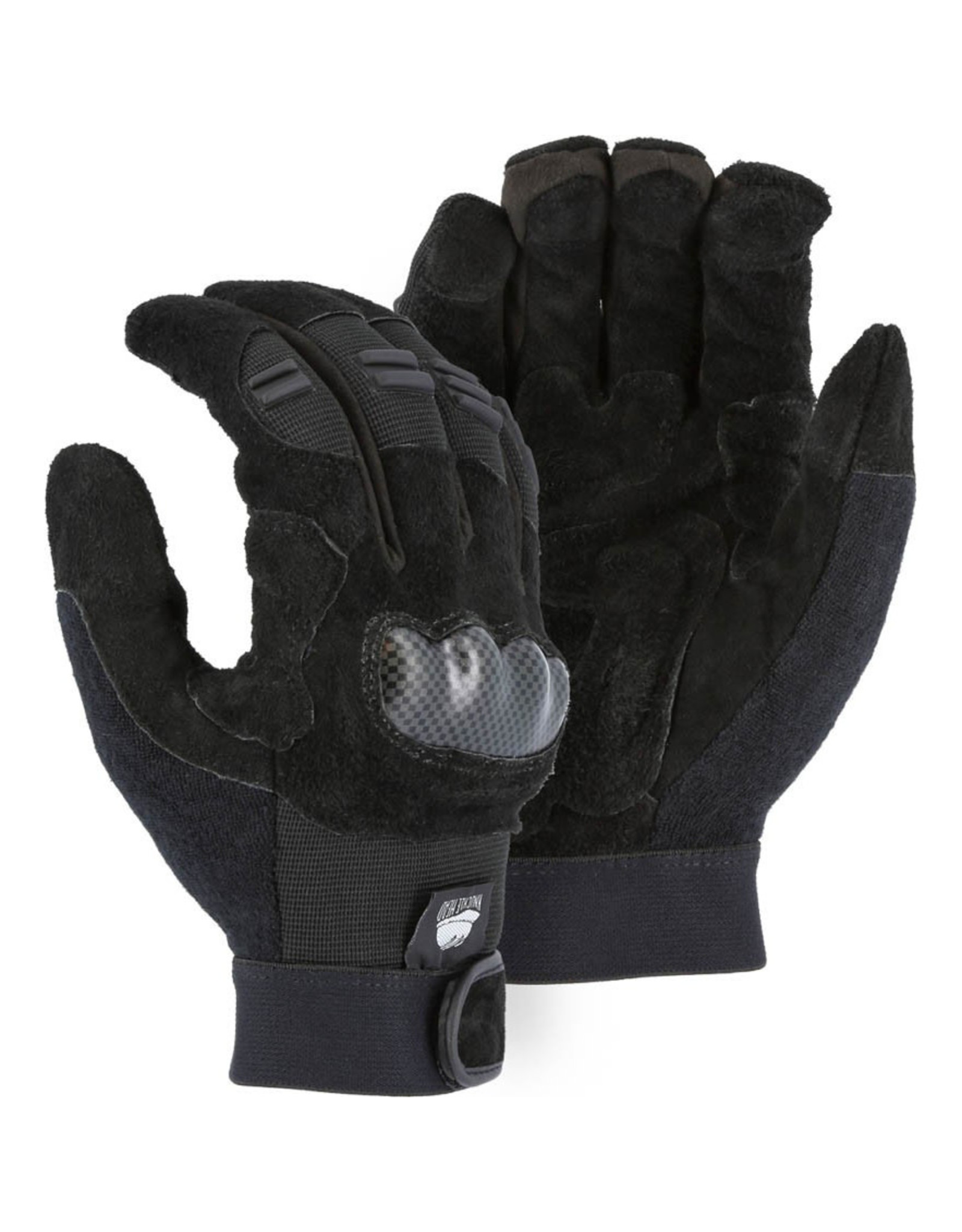 Majestic Glove Knucklehead Mechanics Glove With Cowhide Palm And Impact Knuckle Guard