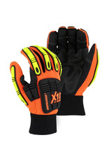 Majestic Glove Knucklehead X10 Armor Skin™ Mechanics Glove With Impact Protection - Single Pair