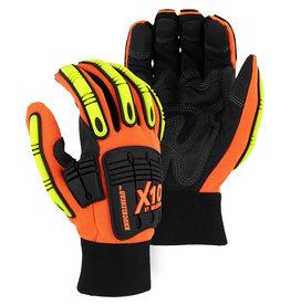 Majestic Glove Knucklehead X10 Armor Skin™ Mechanics Glove With Impact Protection - Single Pair