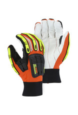Majestic Glove Knucklehead Driller X10 Mechanics Glove With Cotton Palm And Impact Protection