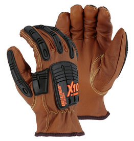 Majestic Glove Cut-Less With Kevlar® Goatskin, Arc, Oil & Water Resistant Gloves, Impact Protection