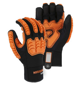 Majestic Glove Knucklehead Armor Skin™ Mechanics Glove With D30 Impact Protection & Palm Padding