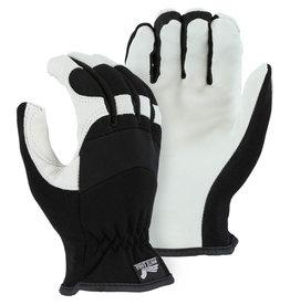 Majestic Glove White Eagle Mechanics Glove With Grain Goatskin Palm And Knit Back