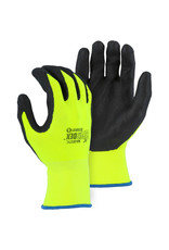 Majestic Glove Superdex Micro Foam Nitrile Palm Coated Glove On High Visibility Nylon Shell