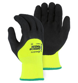 Majestic Glove Emperor Penguin Winter Lined Nylon Glove with 3/4 Sandy Latex Palm