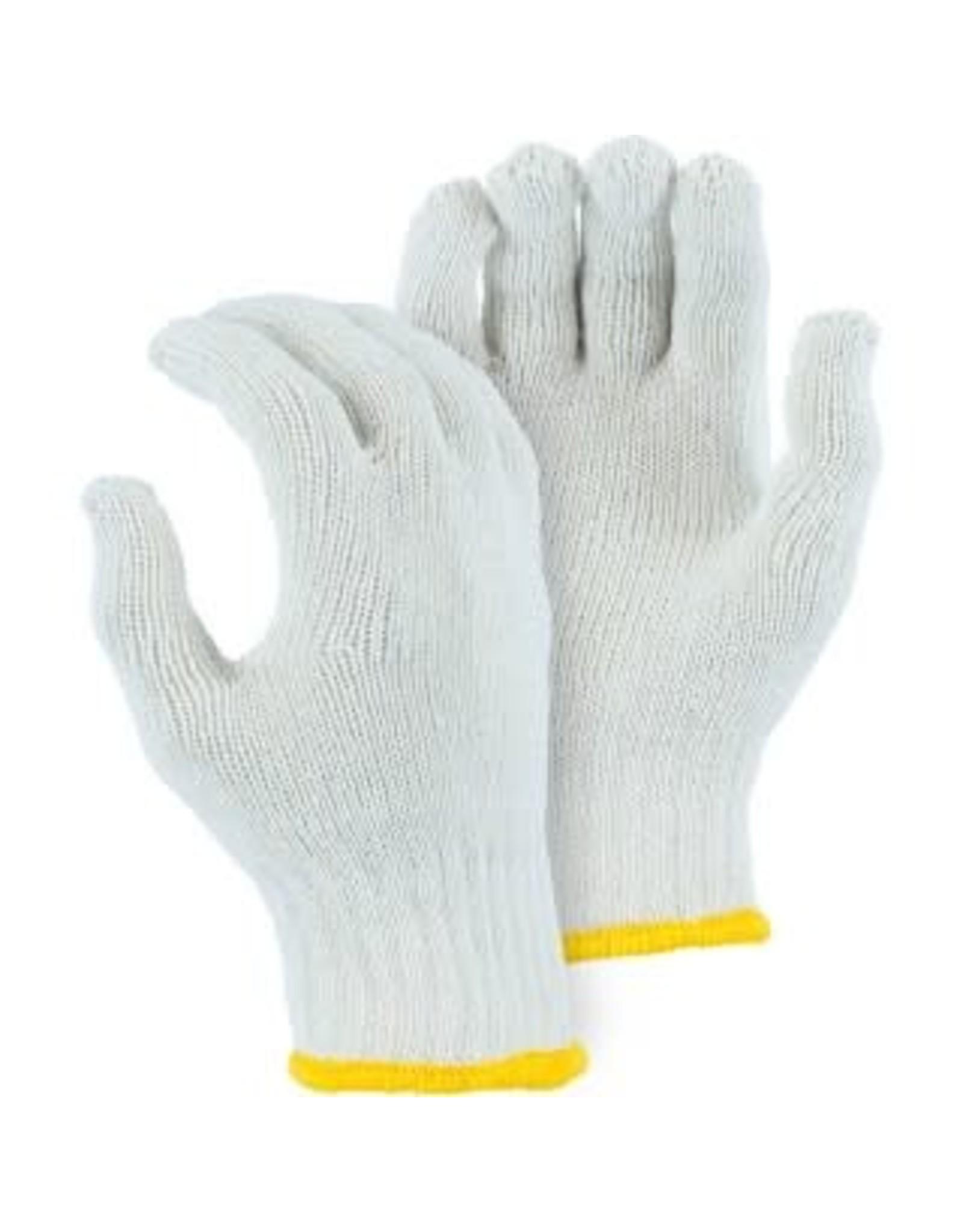 Majestic Glove Heavyweight Cotton/Poly String Knit Glove, White