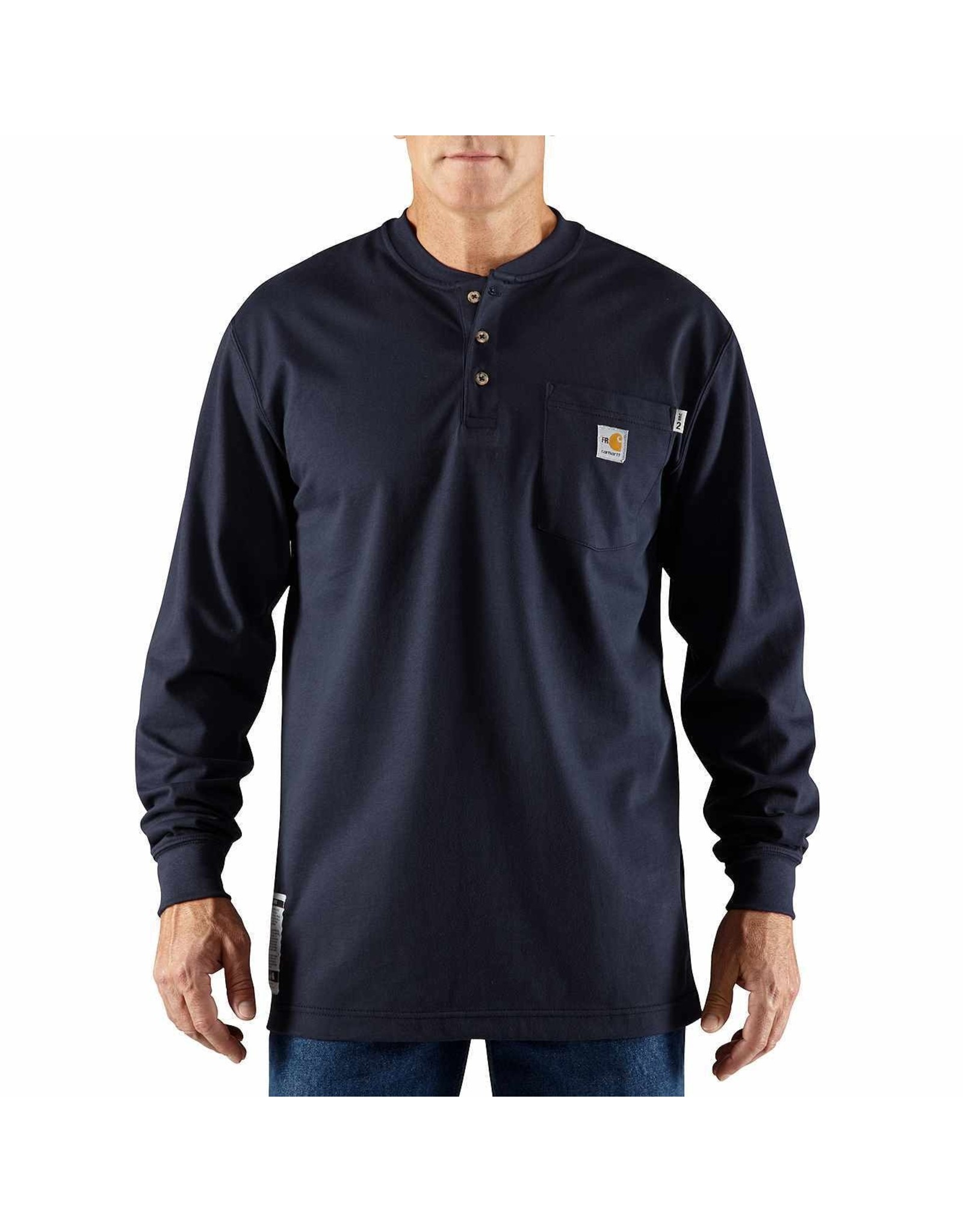 Flame-Resistant Carhartt Force® Cotton Long-Sleeve Henley