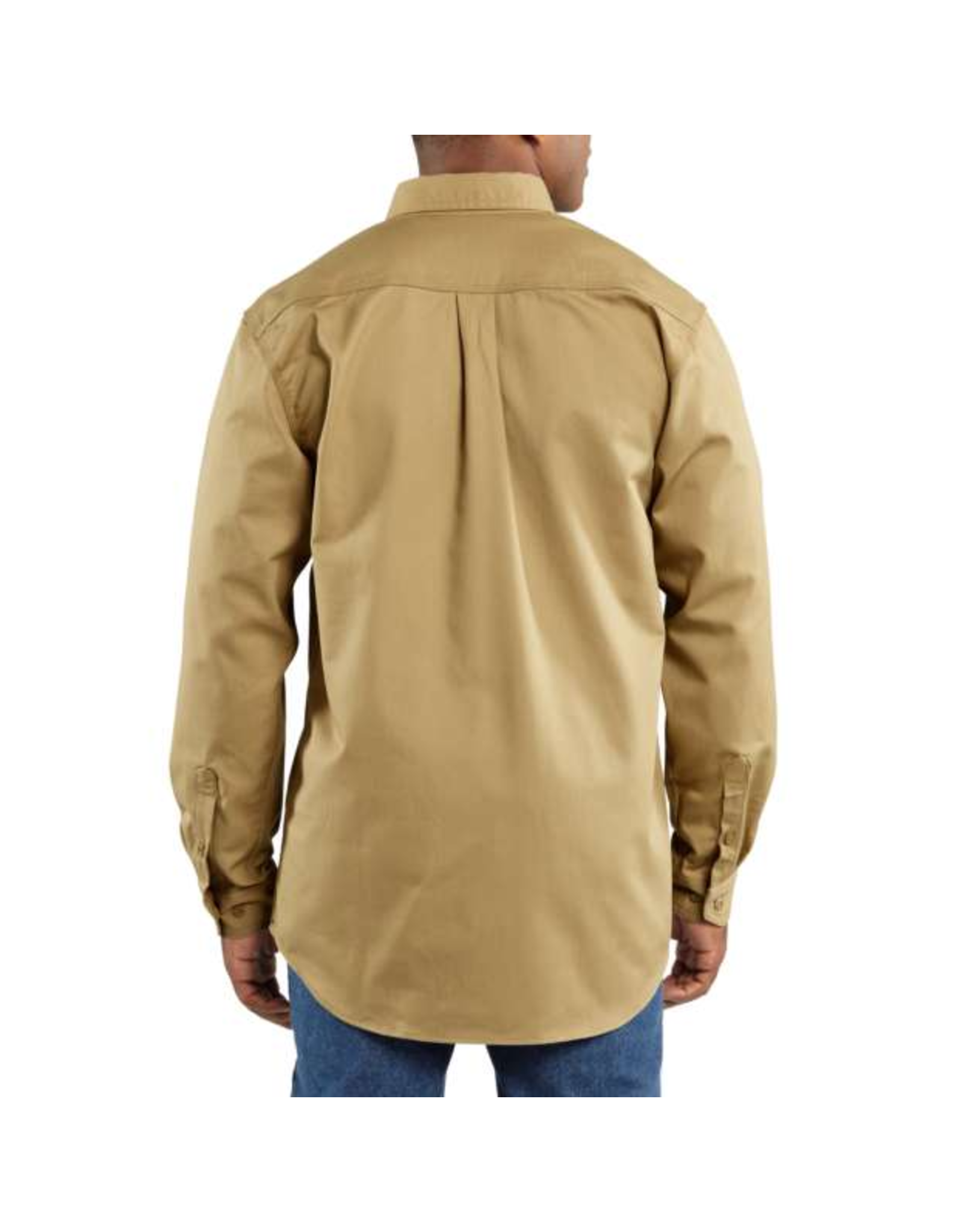 Flame-Resistant Twill Shirt With Pocket Flap