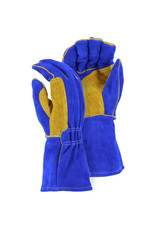Majestic Glove FR Leather Welders Glove with Reinforced Thumb Strap Large