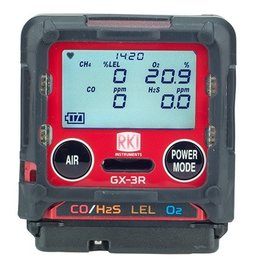 RKI Instruments GX-3R Personal Gas Detector - Confined Space 4 Gas Monitor