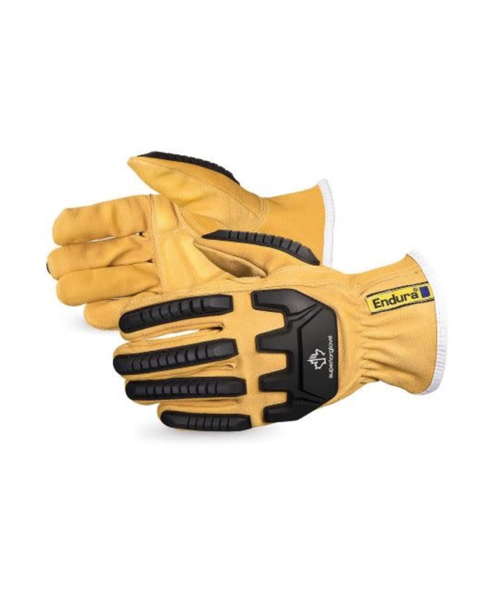 Superior Glove Superior Glove Endura Impact-Resistant Oilbloc Goatskin Kevlar - Lined Driver Glove