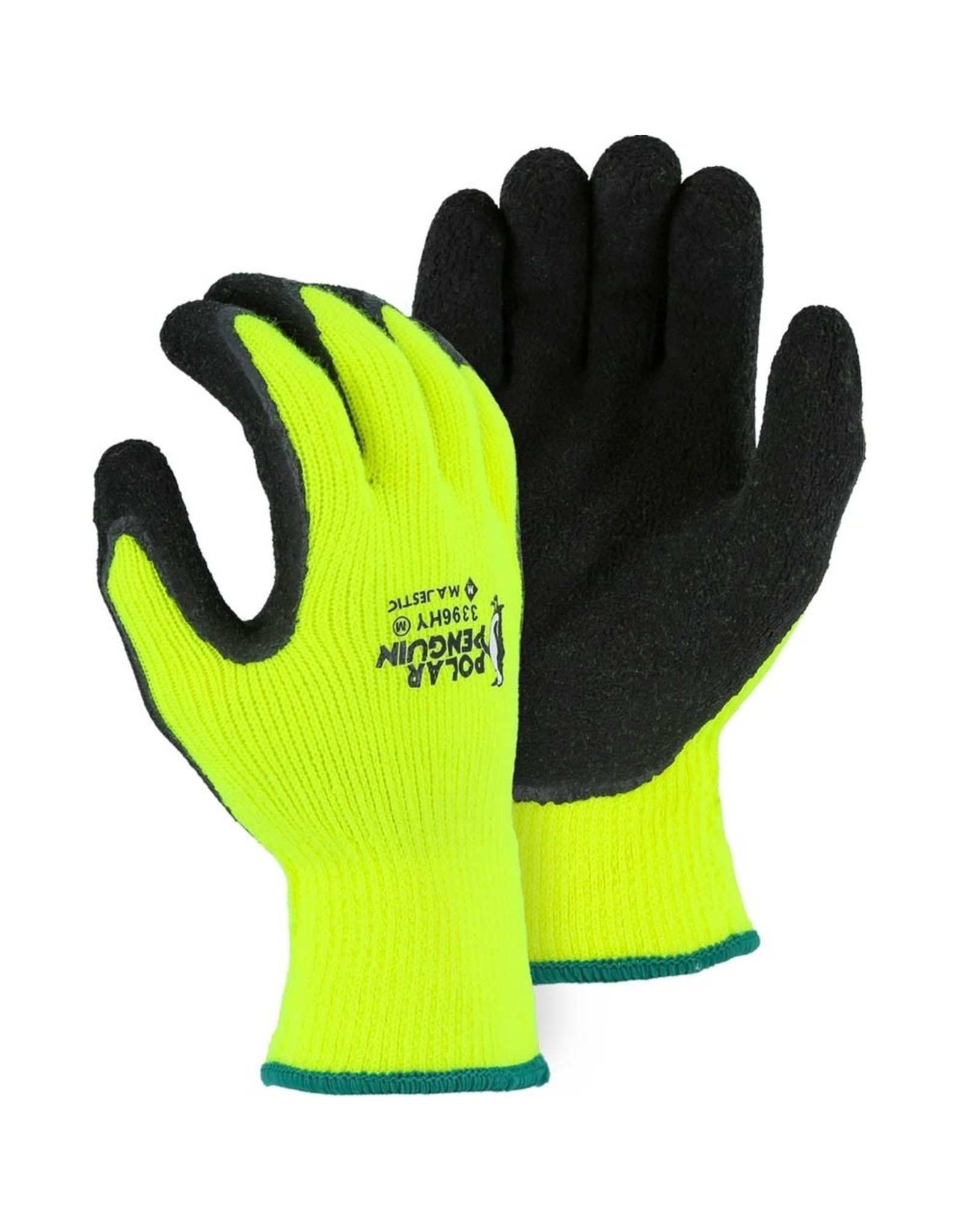 Majestic Glove Polar Penguin Winter Lined Napped Terry Glove with Foam Latex Dipped Palm