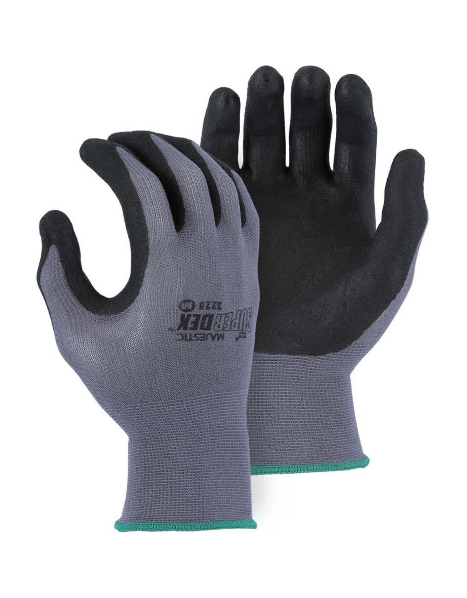 Majestic Glove SuperDex Micro Foam Nitrile Palm Coated Glove on Nylon Shell