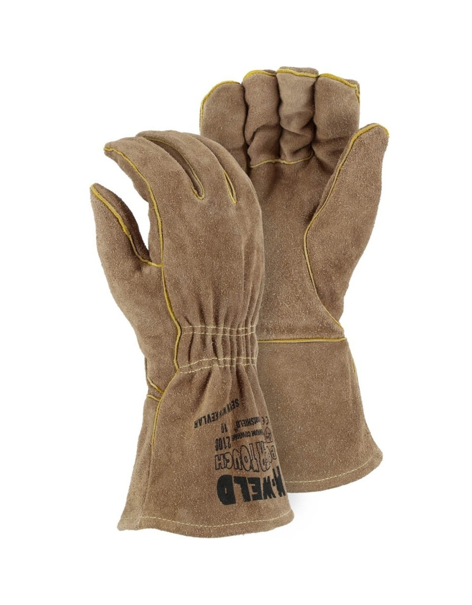 Majestic Glove FR Leather Welders Glove with Elastic Wrist
