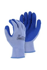 Majestic Glove SuperDex Grip Glove with Wrinkled Latex Palm on Cotton/Poly Liner