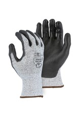 Majestic Glove Cut-Less Watchdog Seamless Knit Glove with Polyurethane Palm Coating