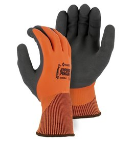 Majestic Glove Emperor Penguin Winter Lined Nylon Glove with Closed-Cell Latex Dip and Sandy Latex Palm
