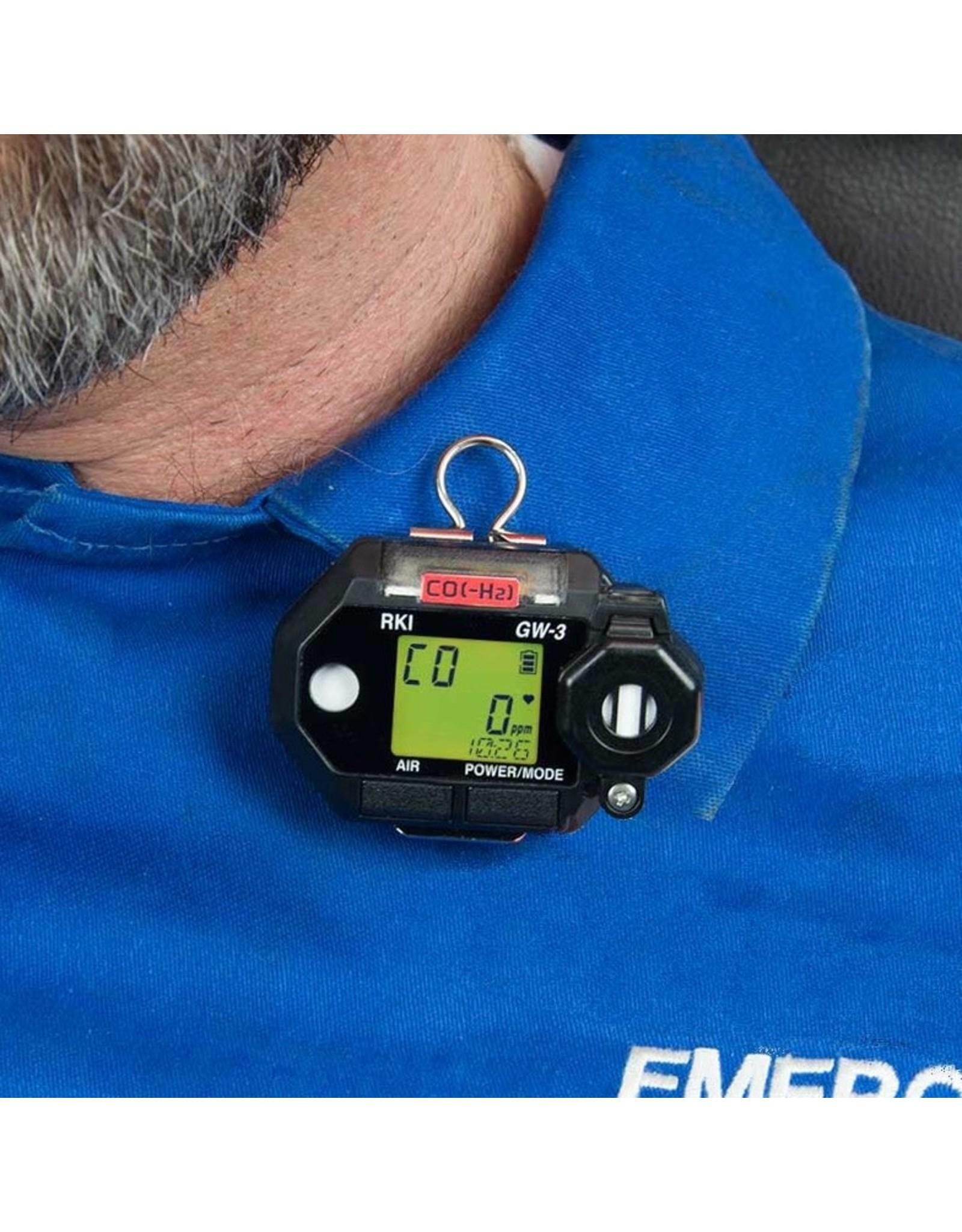 RKI Instruments GasWatch 3 – Portable Single Gas Monitor, H2S with Alligator clip