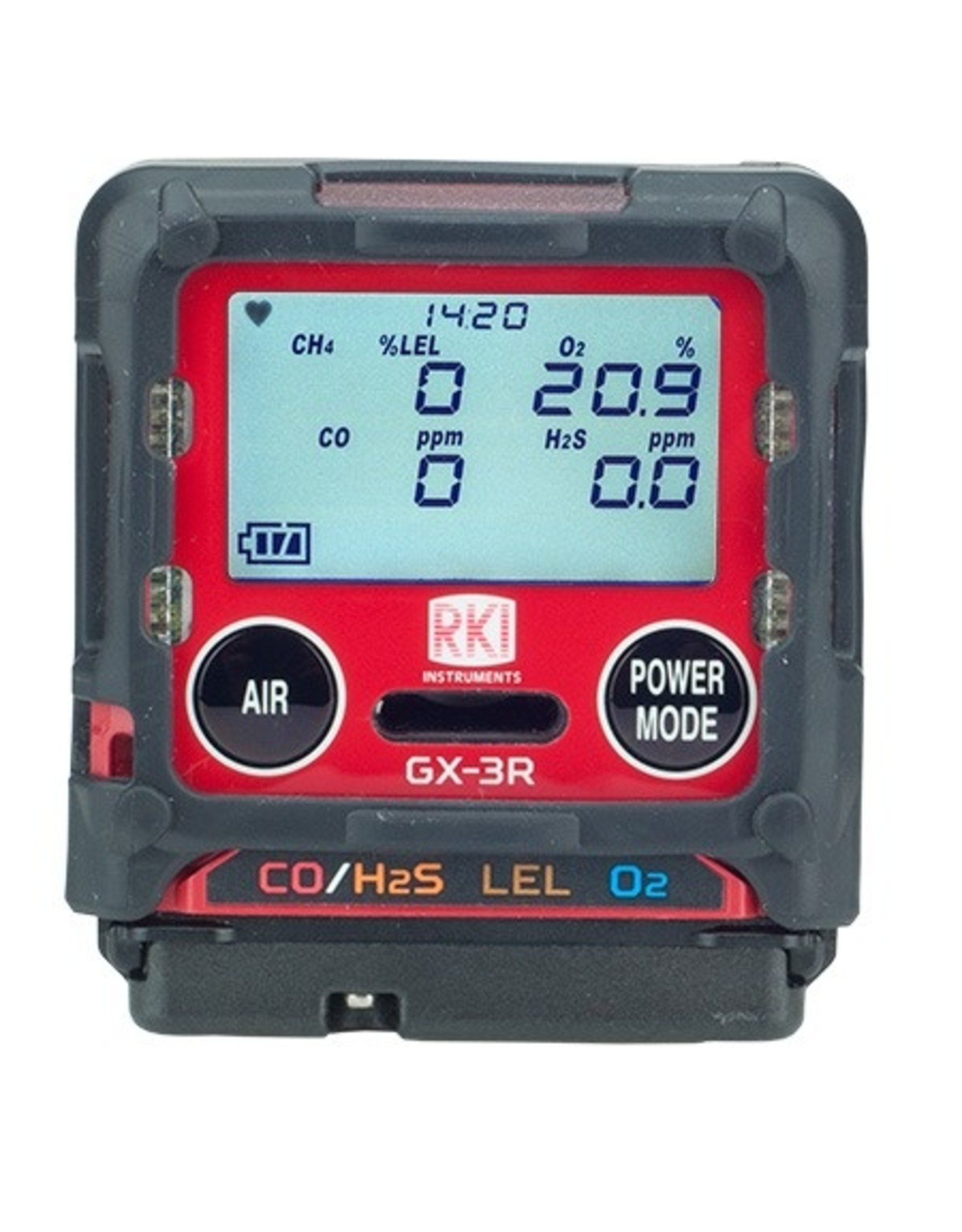 RKI Instruments GX-3R Pro Personal Gas Detector - Confined Space 4 Gas Monitor