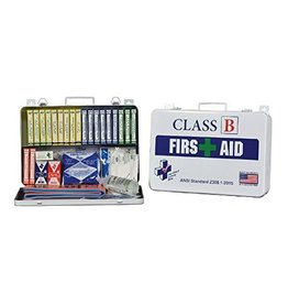 Certified Safety Mfg Class B 36 First Aid Kit - Plastic Case