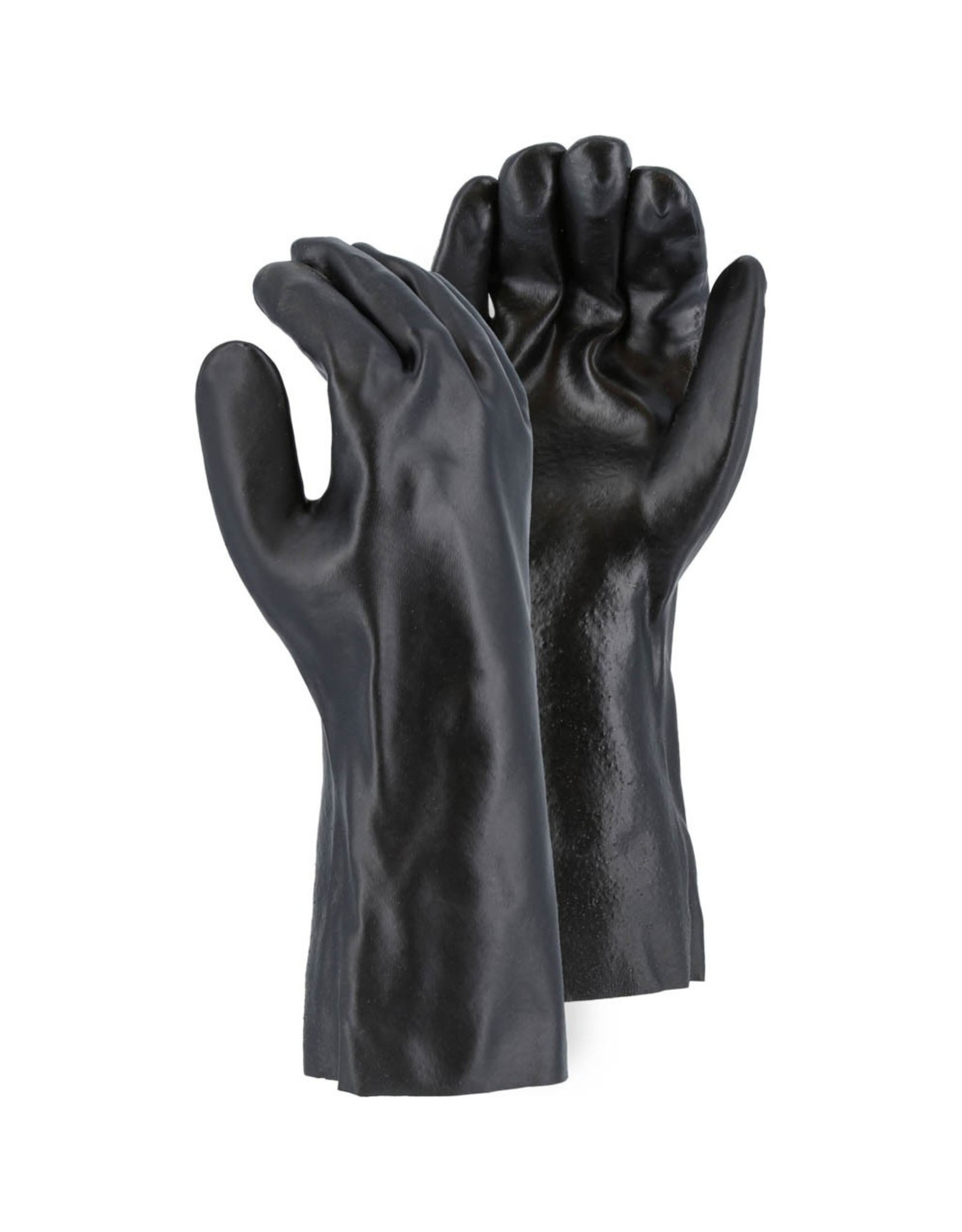 """Majestic Glove PVC Dipped 14"""" Glove With Smooth Finish And Interlock Liner"""