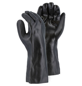 "Majestic Glove PVC Dipped 14"" Glove With Smooth Finish And Interlock Liner"