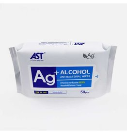 Ag+ Antibacterial Sanitizing Wipes - 50 per pack