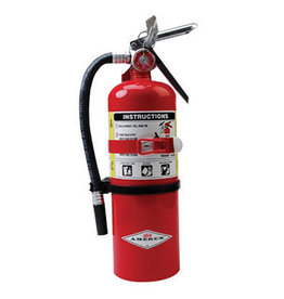 Amerex Amerex® 5 Pound Stored Pressure ABC Dry Chemical 2A:10B:C Multi-Purpose Fire Extinguisher For Class A, B And C Fires With Anodized Aluminum Valve, Wall Bracket, Hose And Nozzle
