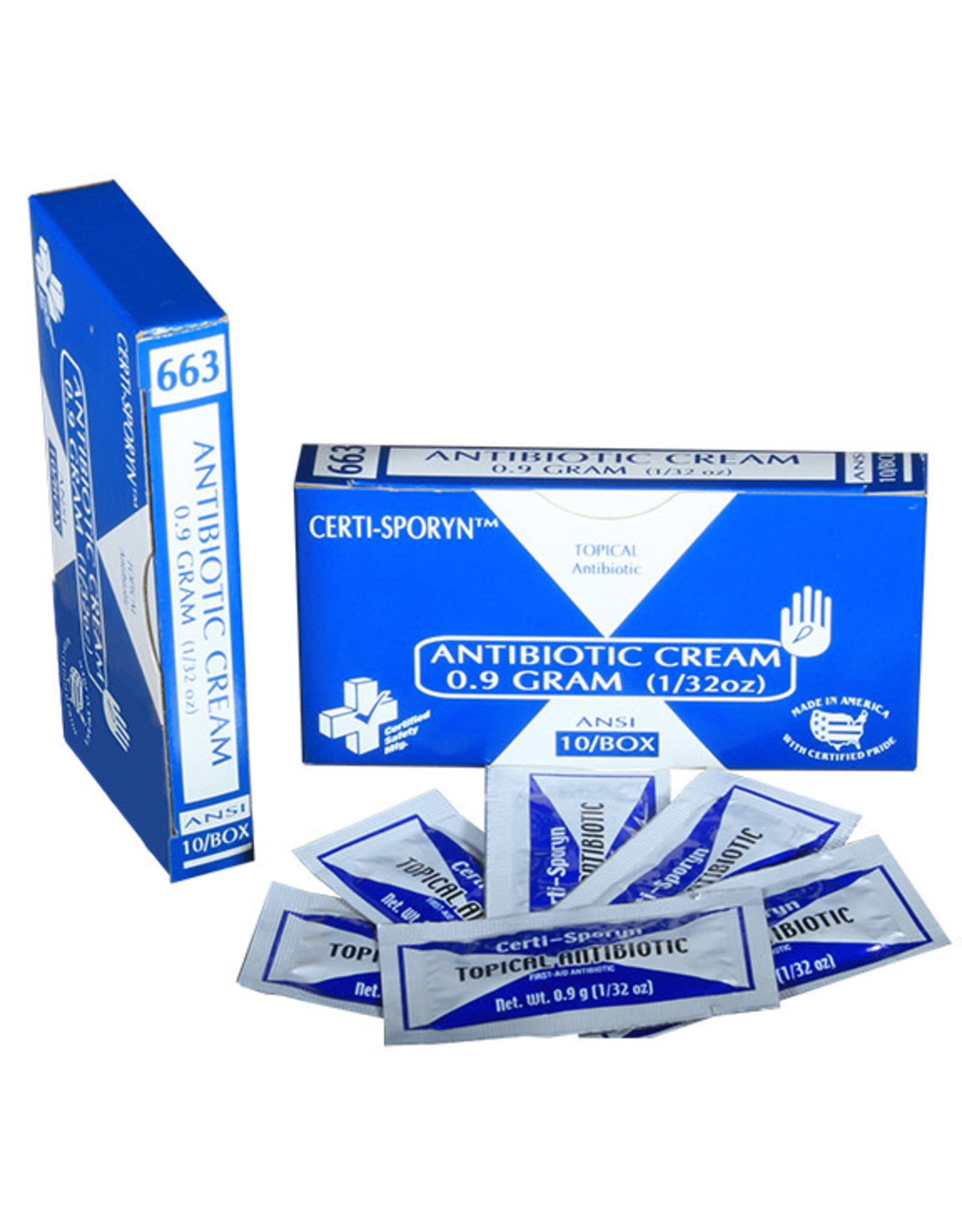 Certified Safety Mfg Certified Safety Anti-biotic Ointment 1 Gram Packet - 25 per Box