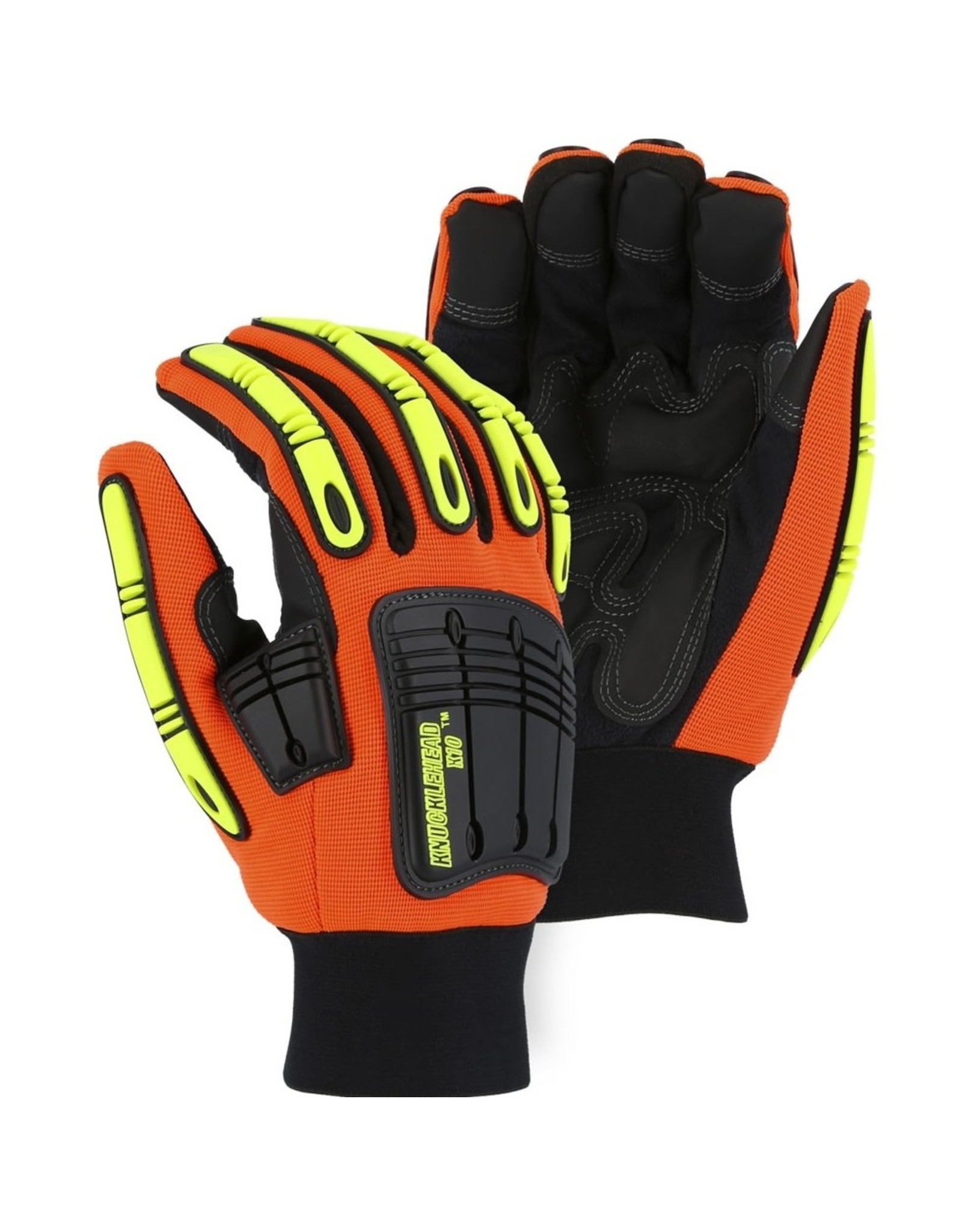 Majestic Glove Winter Lined Knucklehead X10 Armor Skin Mechanics Glove With Impact Protection
