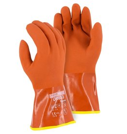 Majestic Glove Winter Lined PVC Double Dipped Glove on Seamless Knit Shell with Removable Liner 2XL