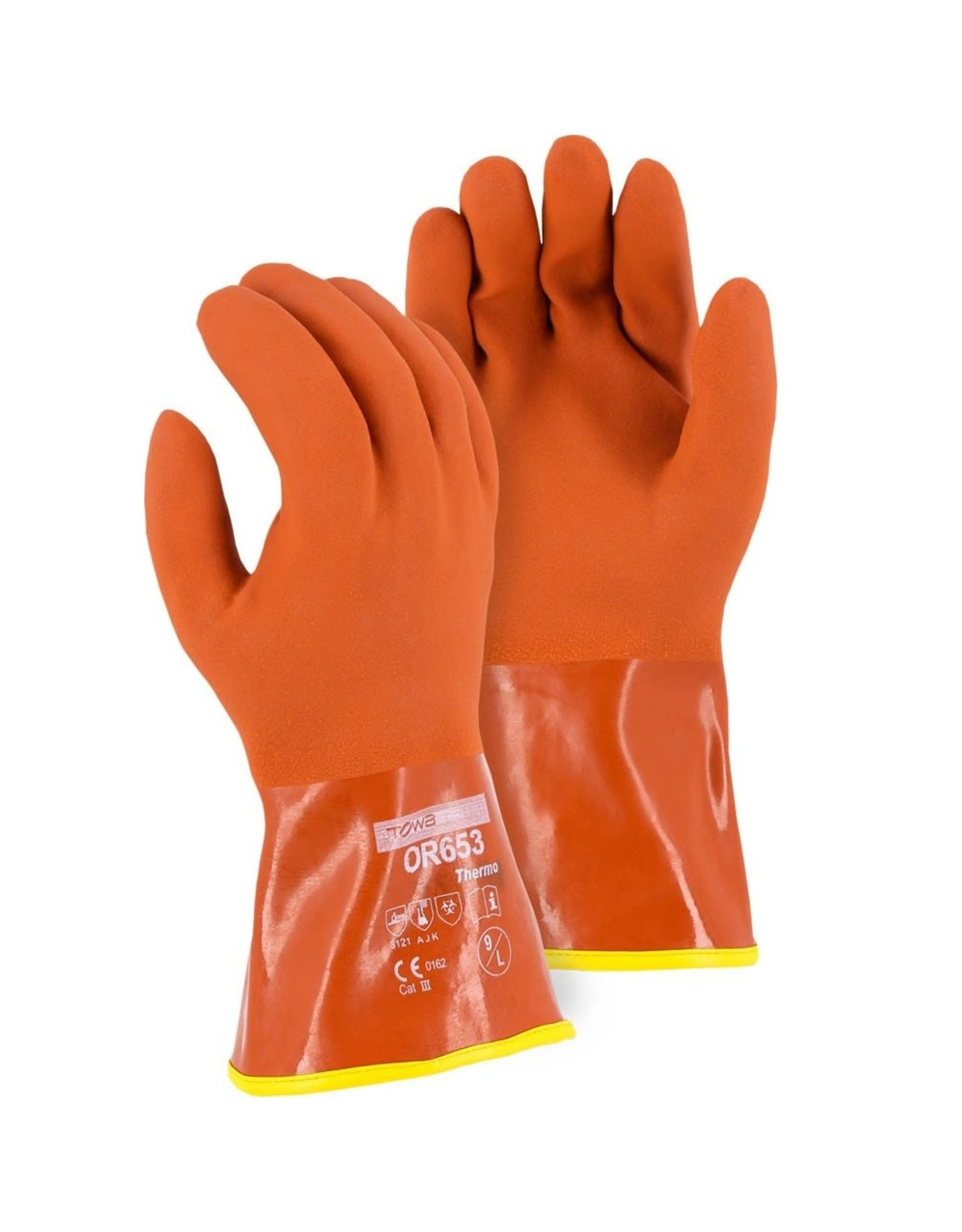 Majestic Glove Winter Lined PVC Double Dipped Glove on Seamless Knit Shell with Removable Liner L