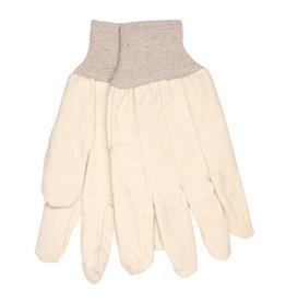 MCR Safety 10 oz 100% Cotton Corded Canvas Glove, Clute Pattern, Knit Wrist and Wing Thumb per 12