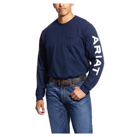 Ariat Ariat Men's FR Pocket Logo Crew T-shirt