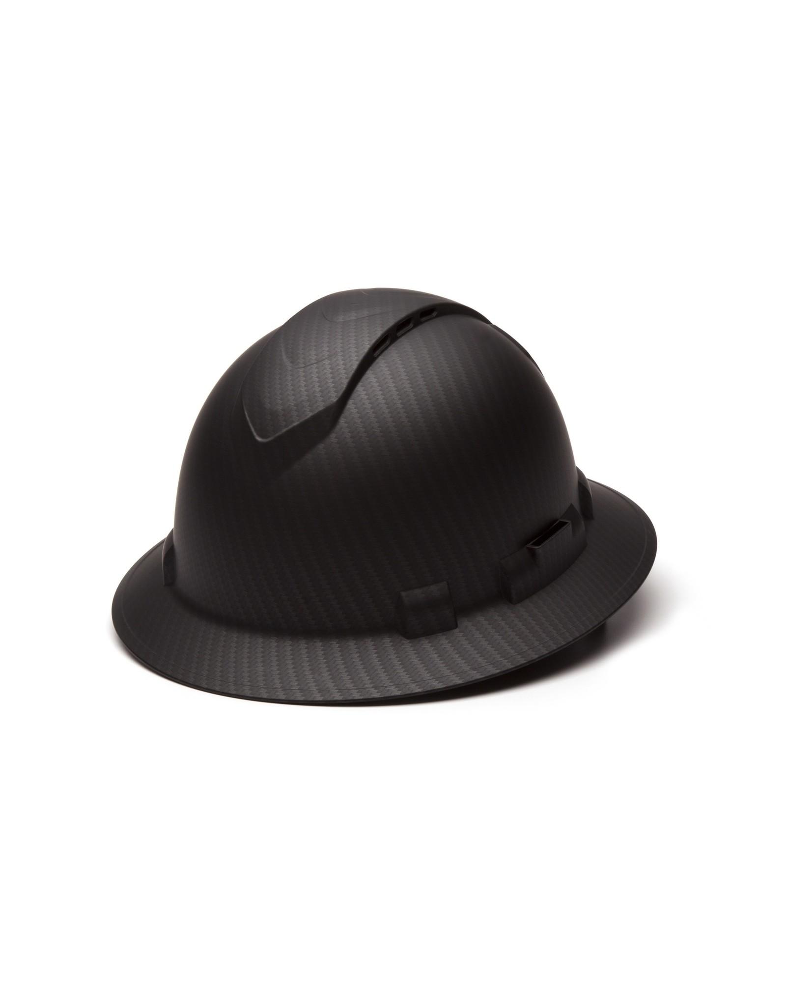 Pyramex Ridgeline Full Brim Hard Hat Carbon Fiber