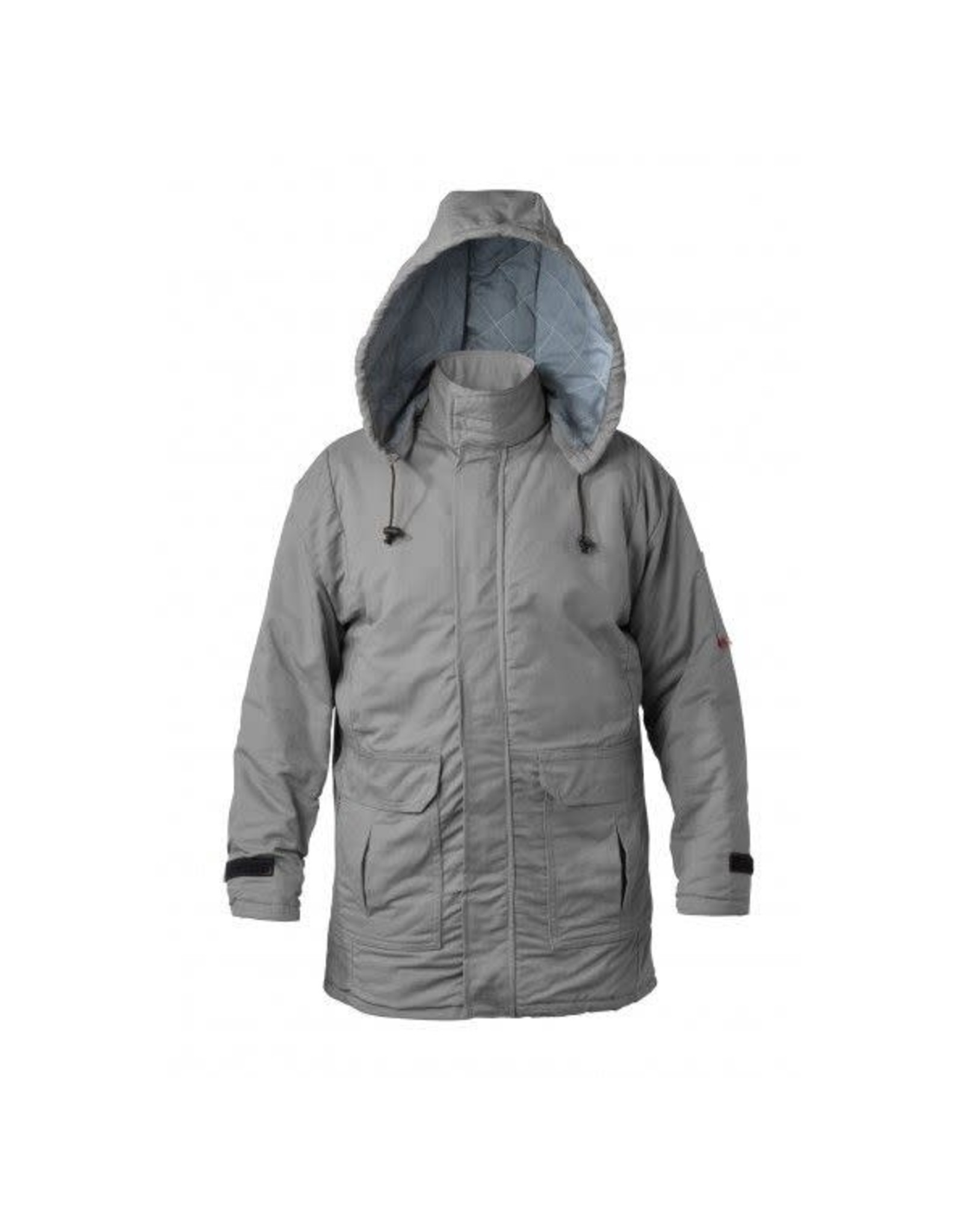 Saf-Tech 9 oz Indura Insulated Parka W/ 10 Oz Zip In/Zip Out Moda Quilt Liner and Detachable Hood - High-Vis