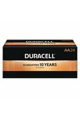 Duracell CopperTop AA AA Battery, Alkaline, Premium, 1.5V DC, PK 24