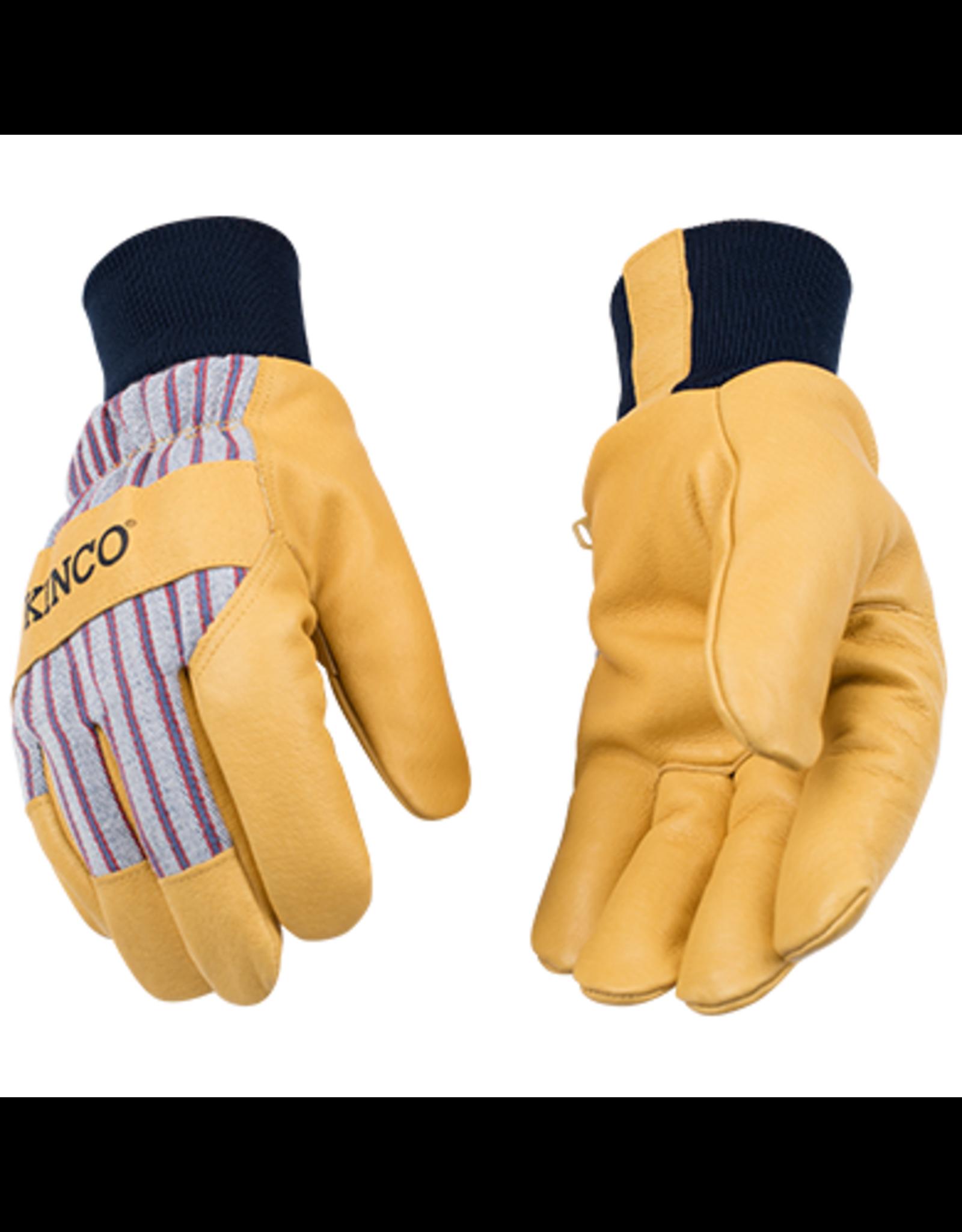 Kinco 1927KW™ Lined Premium Grain Pigskin Palm With Knit Wrist