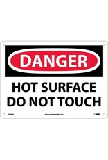 National Marker Company NMC DANGER, HOT SURFACE DO NOT TOUCH Aluminum Sign