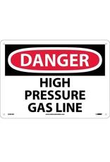 National Marker Company DANGER, HIGH PRESSURE GAS LINE Aluminum Sign