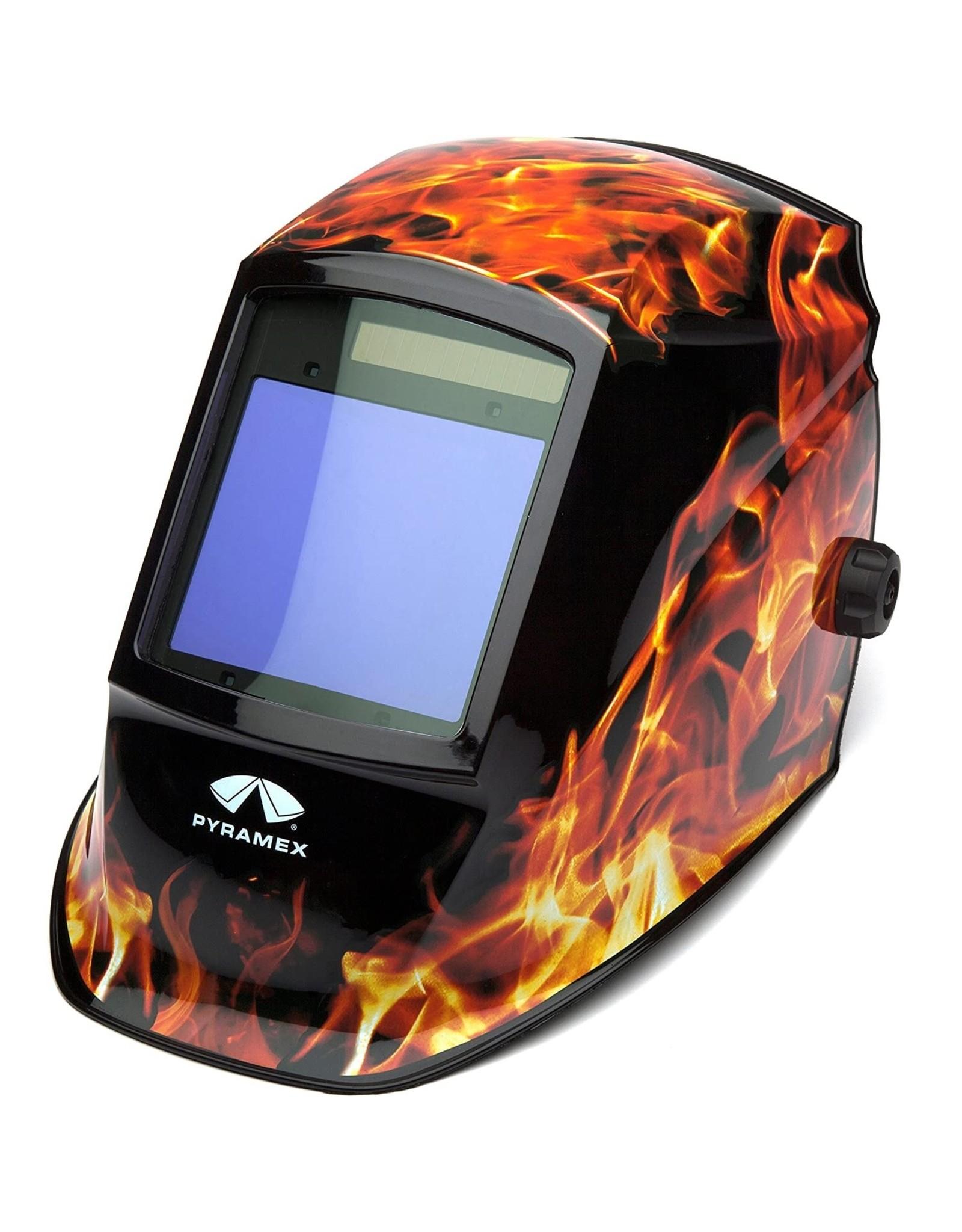 Pyramex Auto Darkening Welding Helmet - Flame