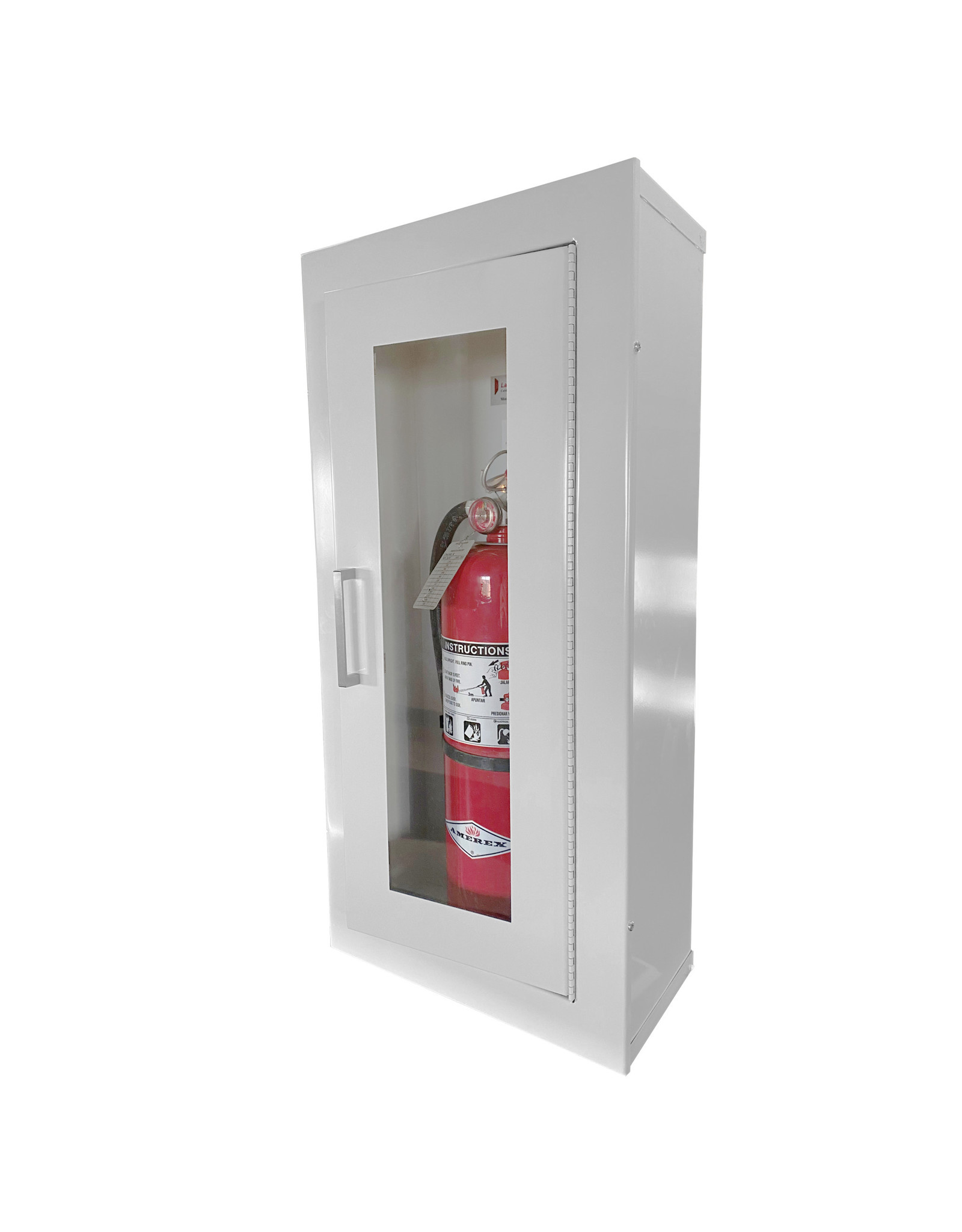 Larsen's Mfg 24 x 9.5 Inch Cabinet 10 Lbs ABC Fire Extinguisher - Steel Door and Frame, Surface Mount