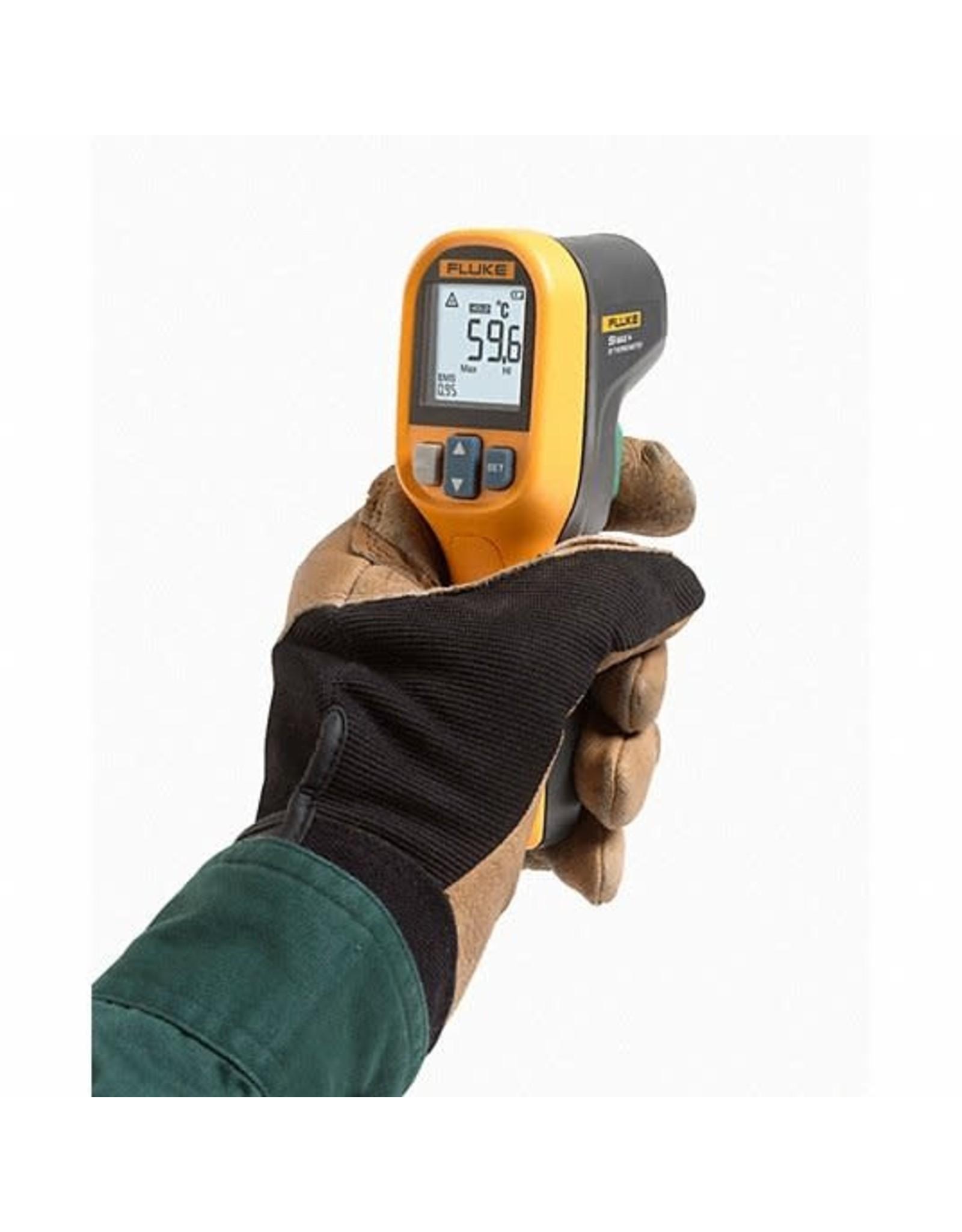 Fluke Backlit LCD, Infrared Thermometer, Single Dot Laser Sighting - Infrared