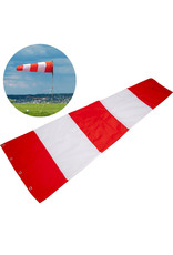 """Safety Flag Co Variegated Windsock 18x60"""" Red/White"""