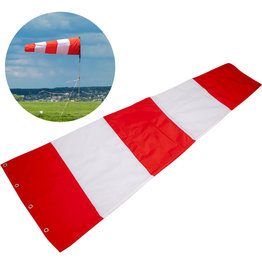 "Safety Flag Co Variegated Windsock 18x60"" Red/White"