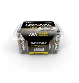 RAYOVAC RAYOVAC UltraPro Industrial Alkaline AAA Size 18-Pack